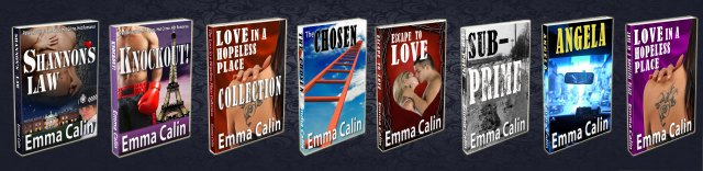Photo D - Shannon's Law all Emma Calin's books